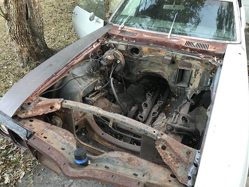 1969 Pontiac Firebird restoration engine bay