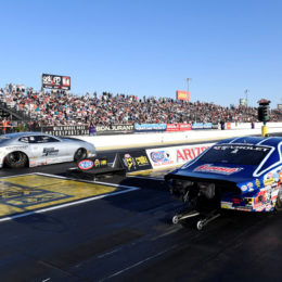 Chris McGaha took the win over Jason Line in last weekend's Pro Stock finals in Phoenix. (Image/Auto Imagery)