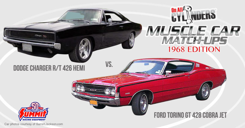 68 Charger vs 68 Ford Torino