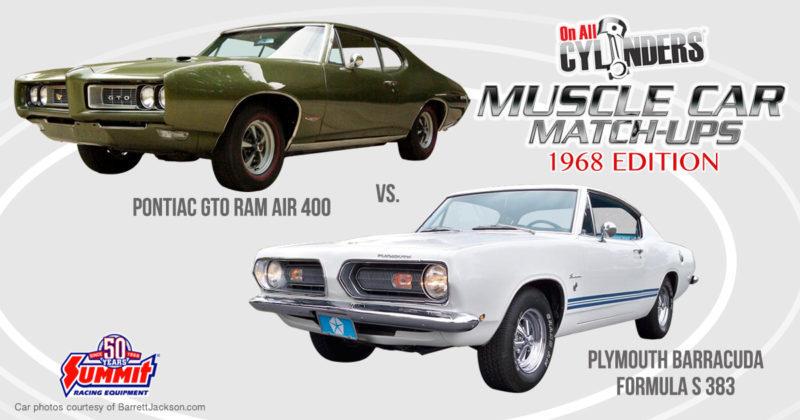 68 Pontiac GTO vs 68 Plymouth Barracuda