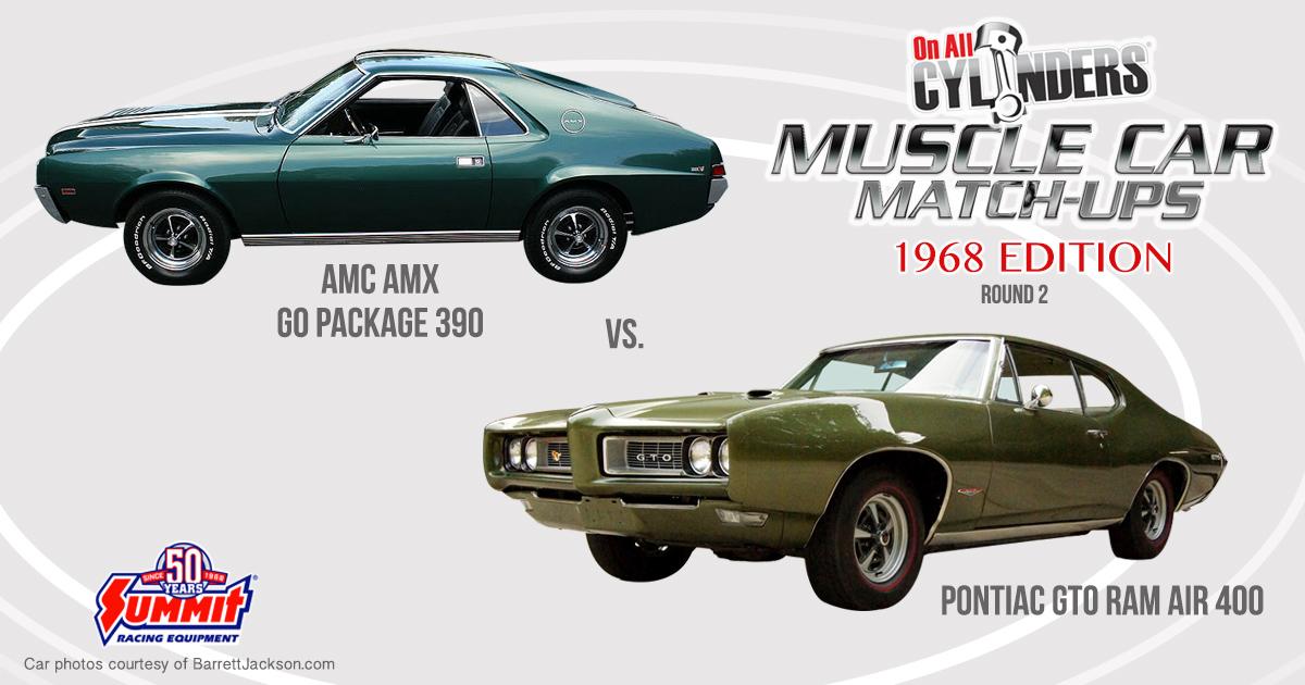 68 AMX vs. 68 Pontiac GTO