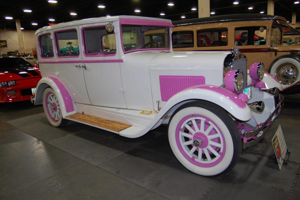 SLC-Car-Show-Pink-Vintage-Sedan
