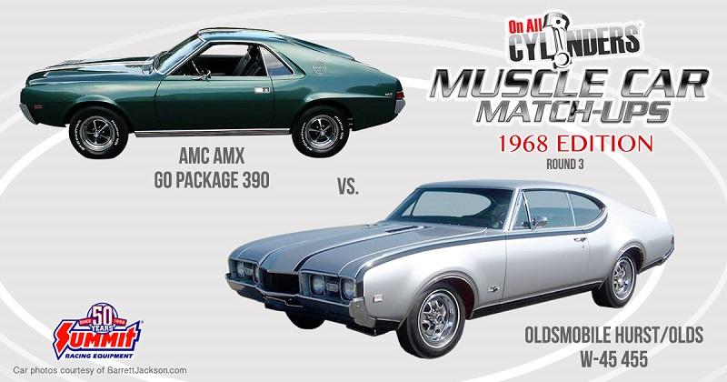68 AMC AMX vs. 68 Hurst/Olds