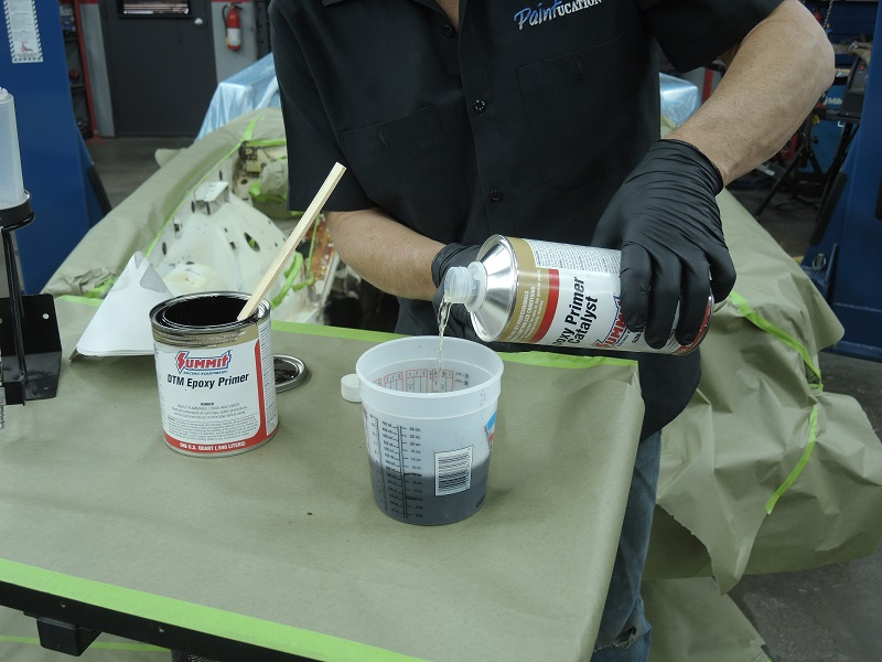 epoxy primer catalyst mixing