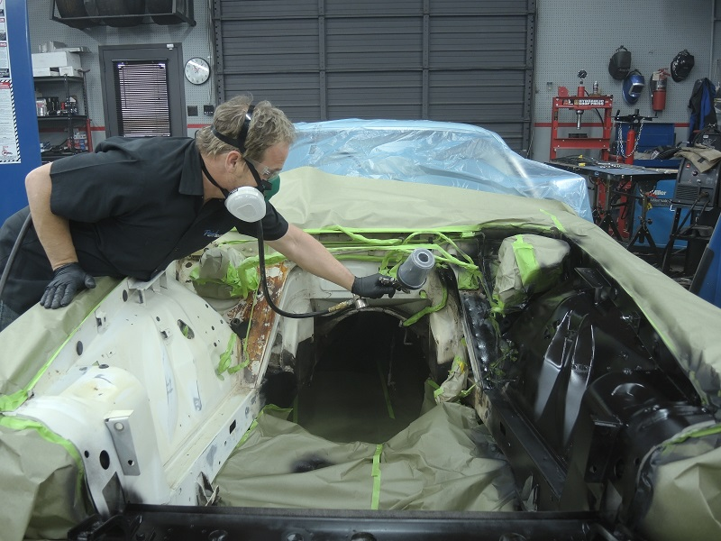 kevin tetz engine bay paint spraying