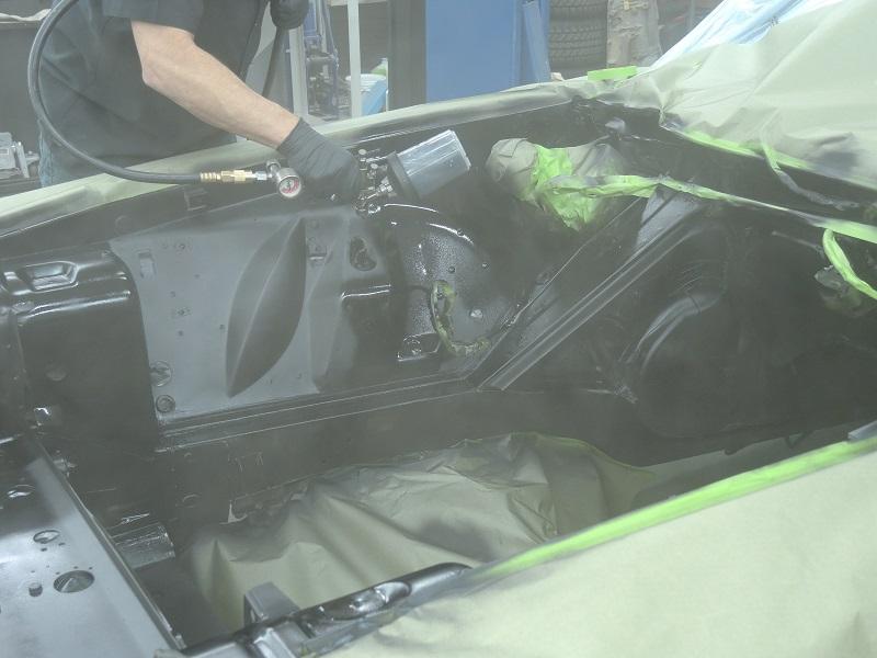 engine bay paint overspray