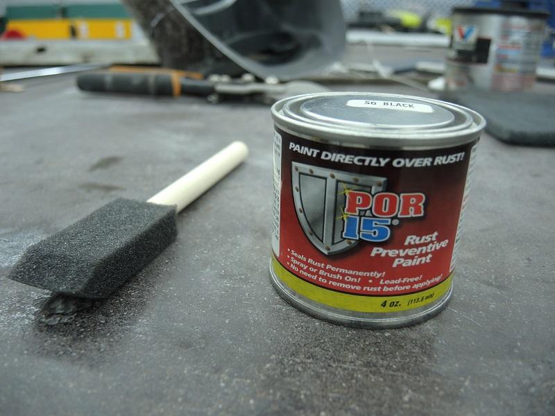 POR-15 rust preventative paint