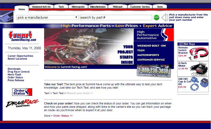 2001-Summit-Racing-Website