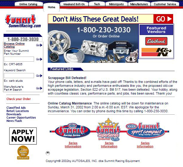 Summit-Racing-2002-Website