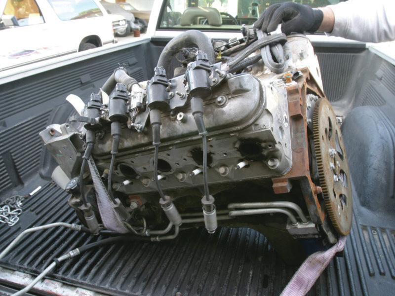 LS junkyard engine pull