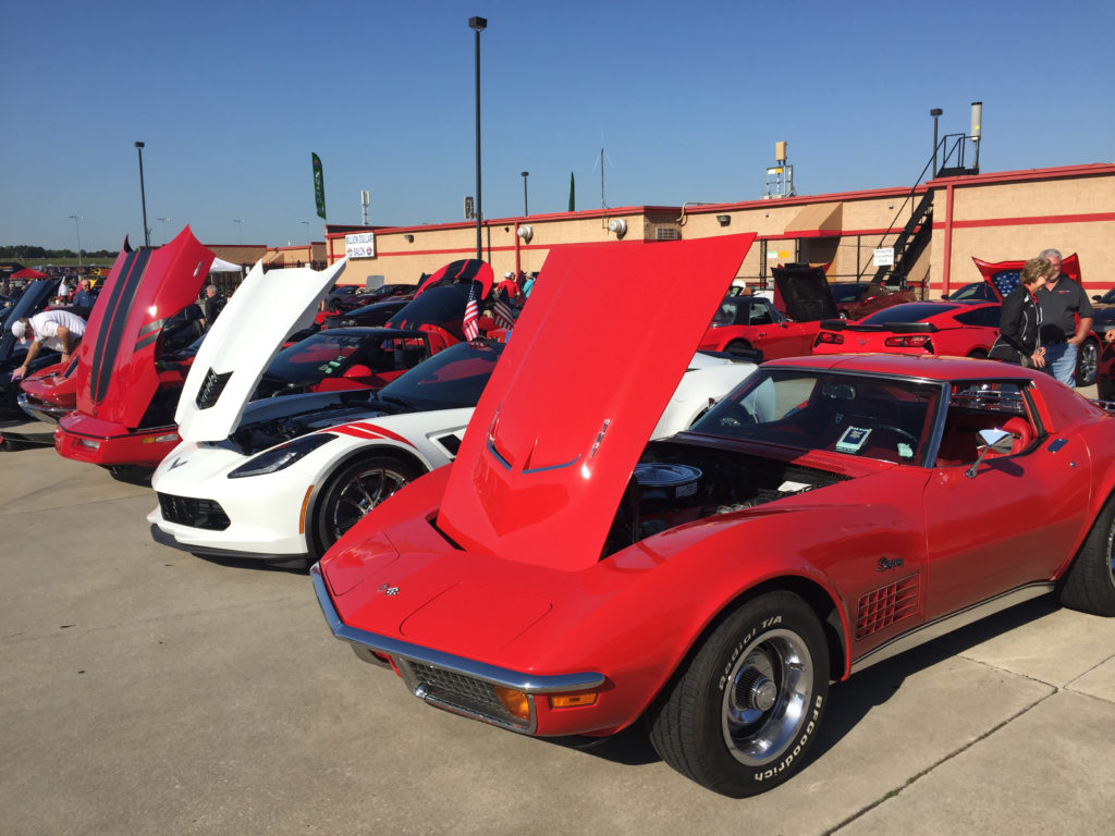 Atlanta-Motorama-row-of-Corvettes