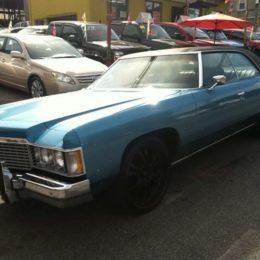 1974 Chevy Impala 4-door big wheels