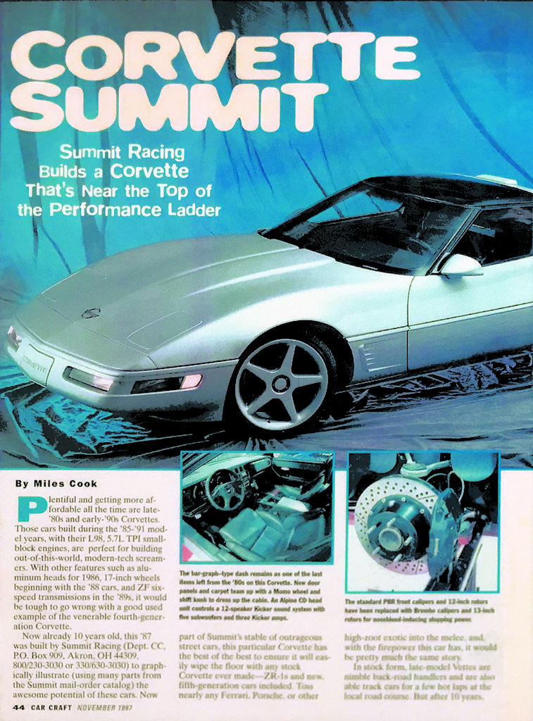 Corvette Summer Car Craft Article, Page 1