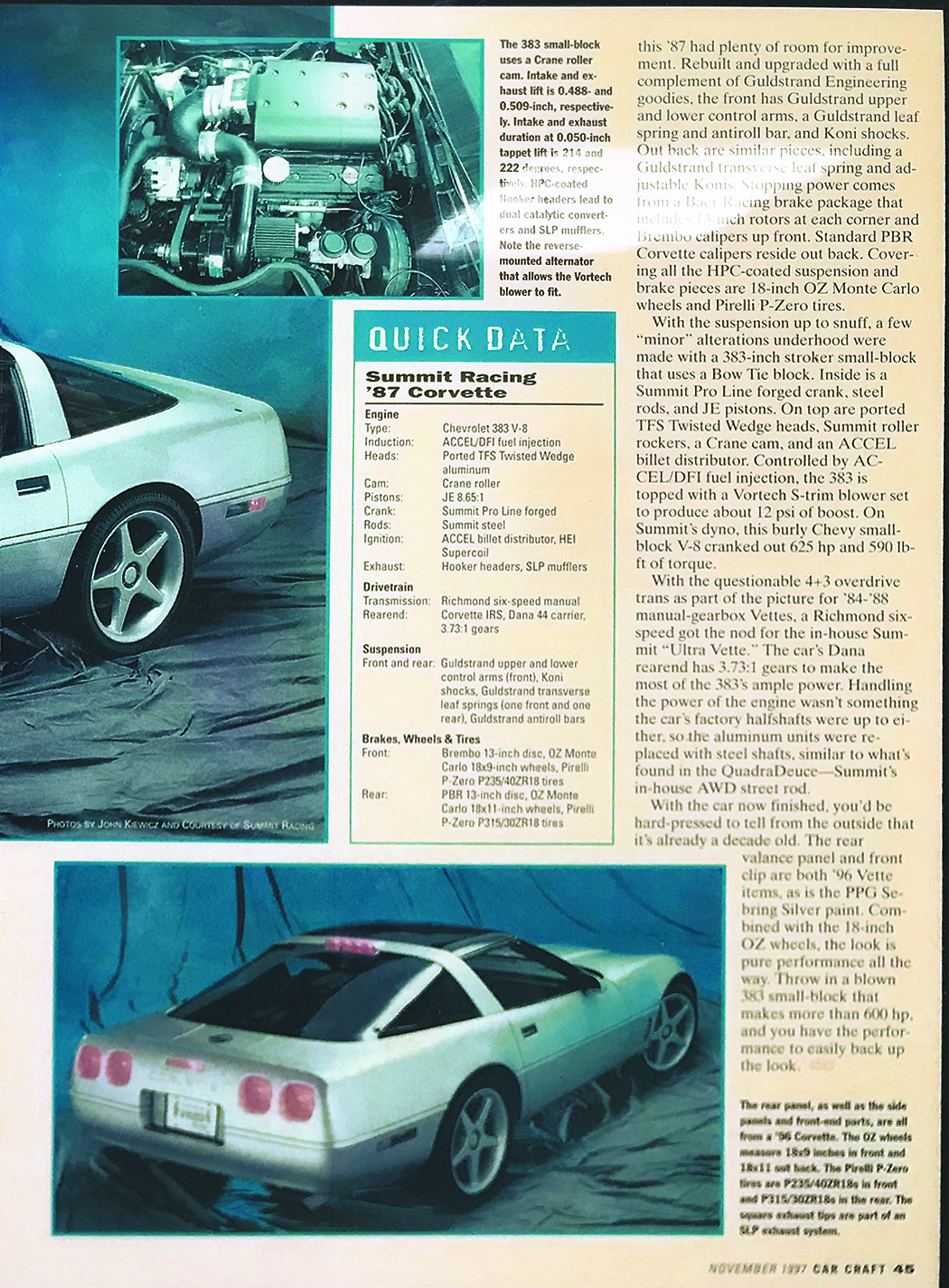 Corvette Summit: Summit Racing's Rad 1987 C4 'Vette Project