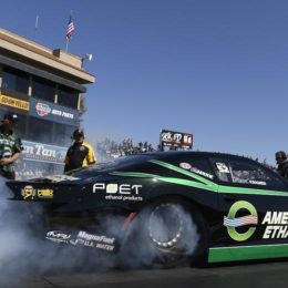 Deric Kramer won his first career NHRA Pro Stock event in the Mello Yello Drag Racing Series in the rain-delayed race which concluded Monday in Topeka, KS.