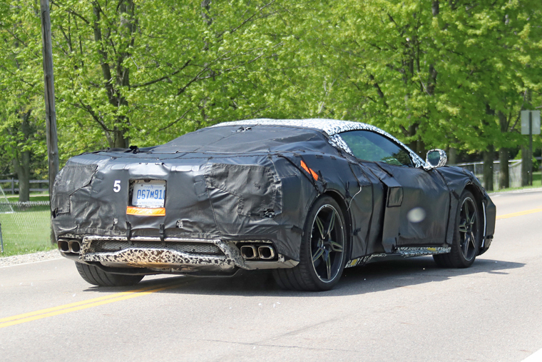 Spy-Shot-Corvette-mid-Engine-Rear