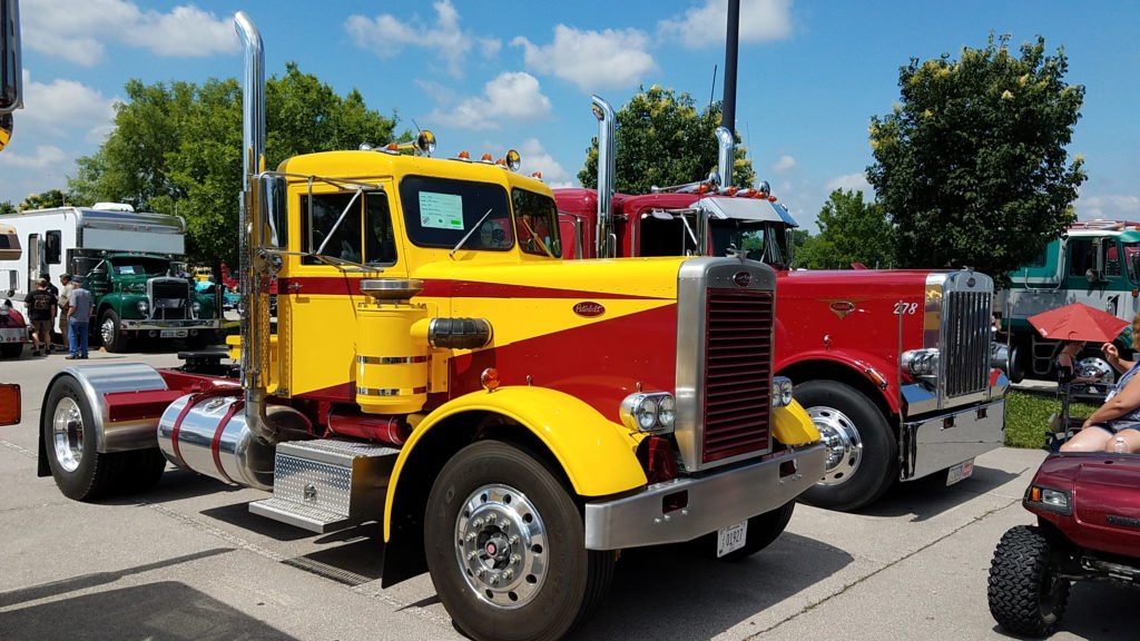 classic-yellow-and-red-peterbilt-vintage
