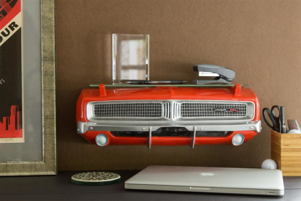 69 charger car shelf
