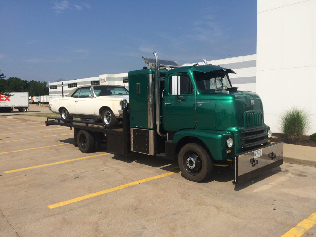 International-S-Series-Flatbed-COE-with-1967-GTO-Side