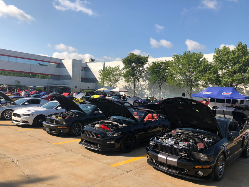 Row-of-Mustangs-at-a-Ford-Car-Show