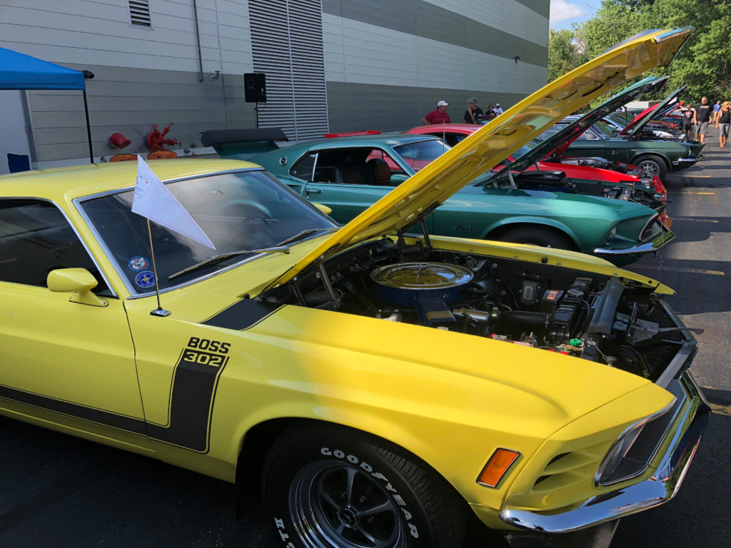 Row-of-Vintage-Mustangs-at--a-Car-Show