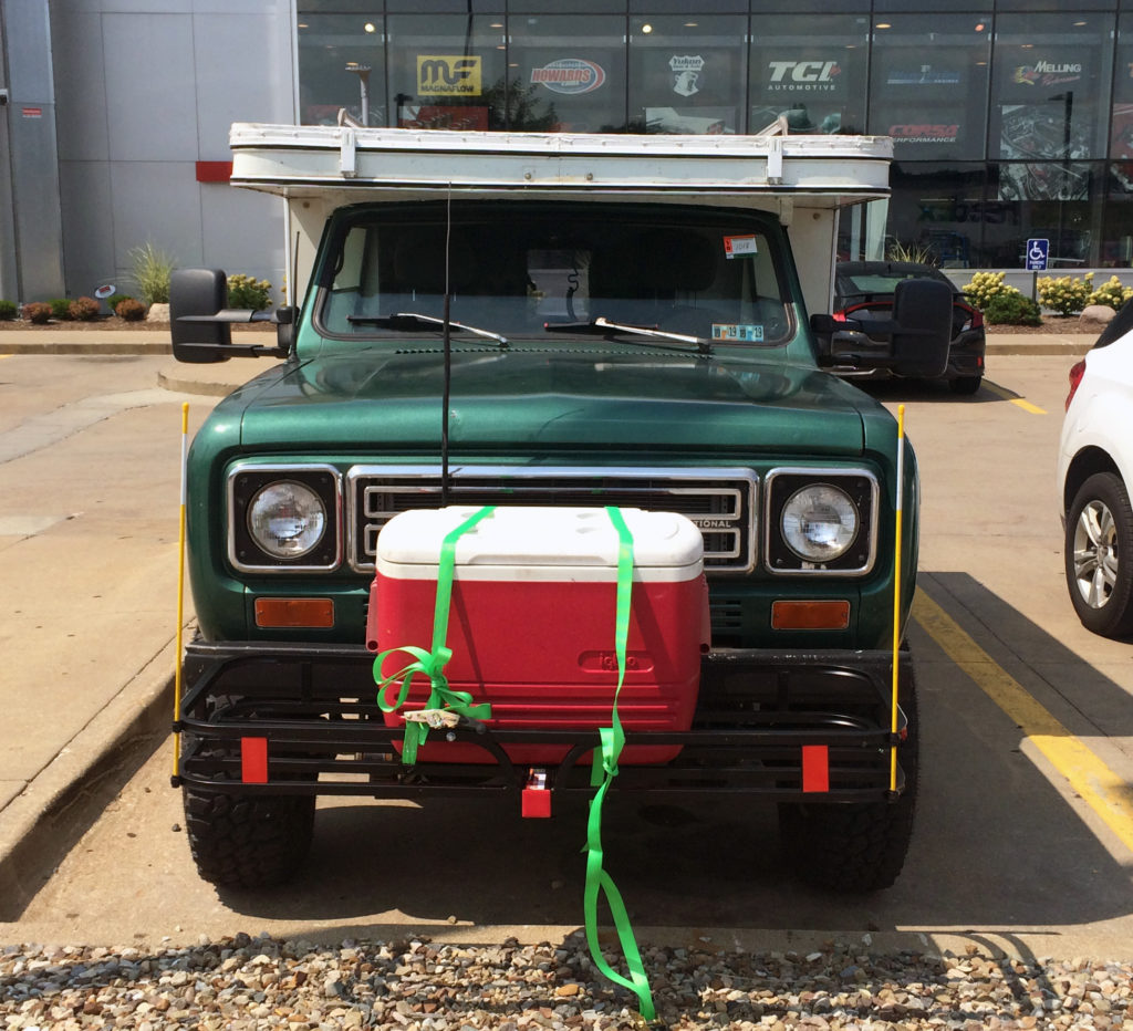 International-Scout-2-II-with-Pop-Up-Camper,-Front-Cooler-hitch-Mount