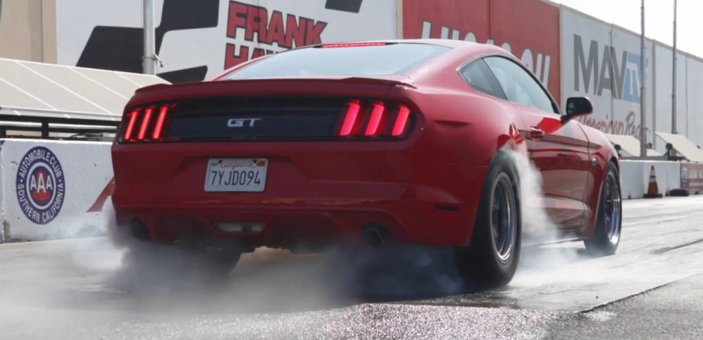 Horsepower-Wars-Pony-Wars-Ford-Mustang-GT-Burnout-Drag-Strip
