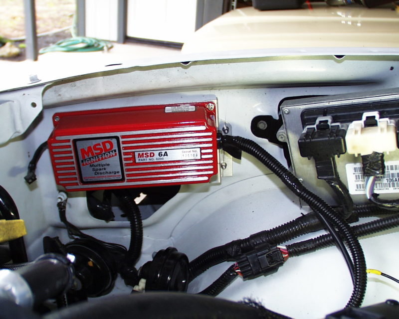 MSD ignition box installed