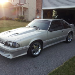 silver ford mustang 1993 gt supercharged