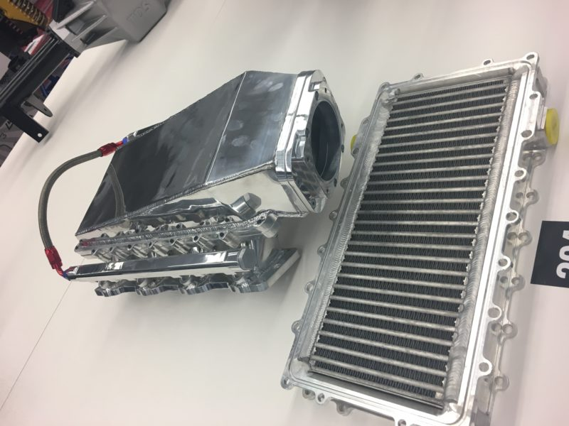Speedmaster LS Fabricated Aluminum Ram Air Blower Intake Combo with Intercooler