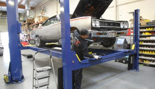We recently worked with JCG Restoration and Customs on an alignment story on this Mopar. Their Hunter alignment machine is highly accurate and they can produce an alignment that is more performance friendly. (Image/Jeff Smith)