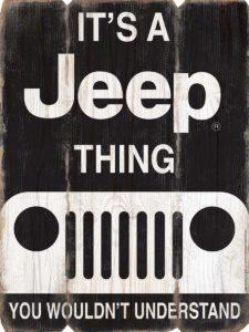 Jeep MDF Sign