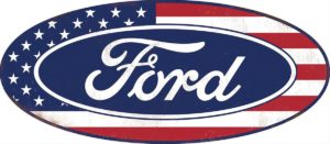 Ford American Flag Steel Sign