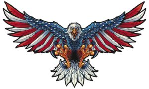 American Flag Eagle Steel Sign