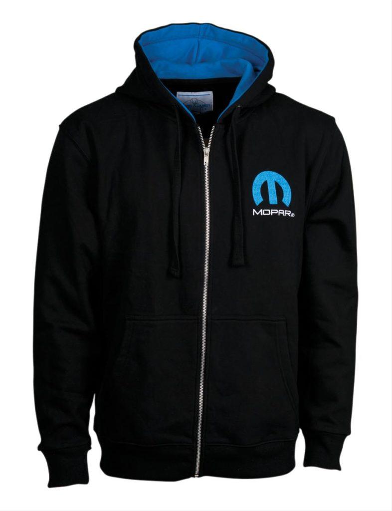 Mopar Omega Logo Zip-Up Hooded Sweatshirt