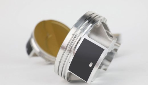 """The Ultra series piston line is ready for big power and is one of the most feature-dense and technology rich piston lines available. JE officials call their Perfect Skirt coating """"revolutionary."""" It protects the piston skirts, reduces friction, while eliminating cold-start piston slap and false knock on computer-controlled engines, JE officials say."""