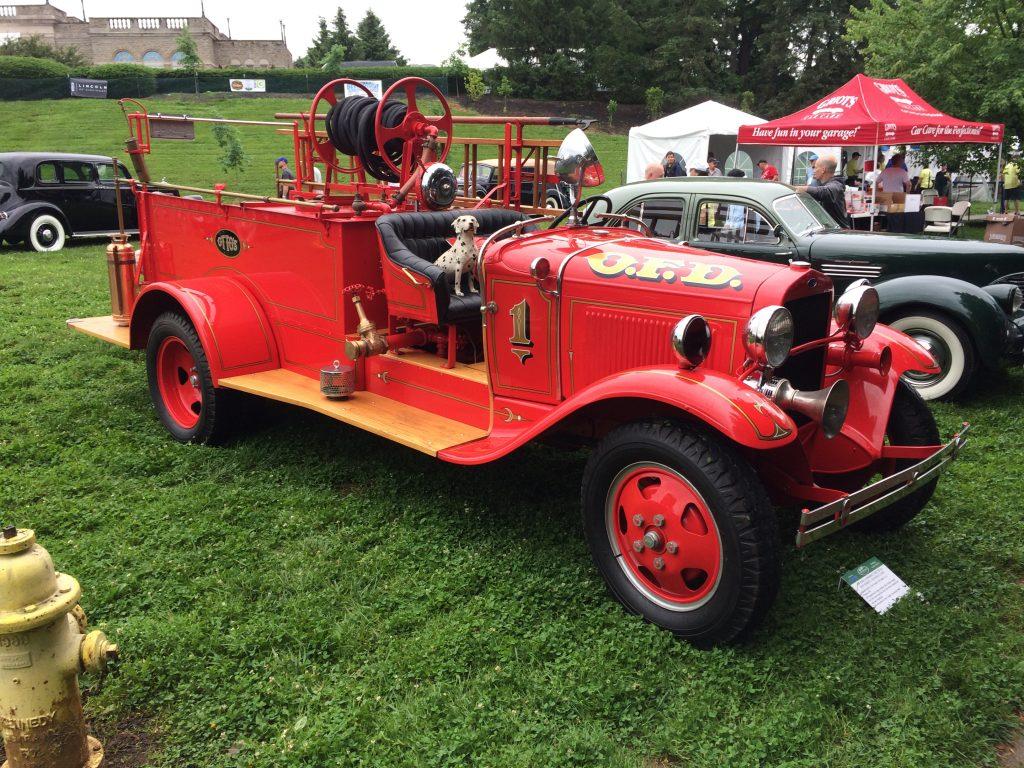 Old Vintage Prewar Fire Truck