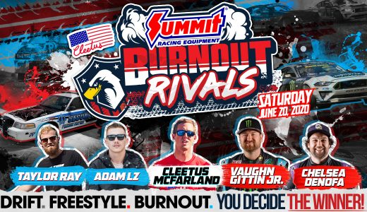Starved for More Live On-Track Competition? Cleetus McFarland & Summit Racing Present Burnout Rivals