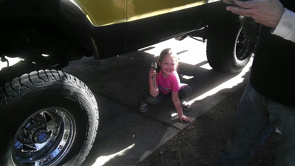 Jen learning to wrench